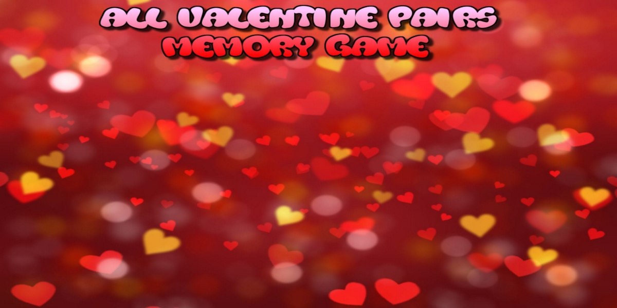All Valentine pairs memory game
