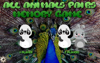 All Animals pairs game start screen