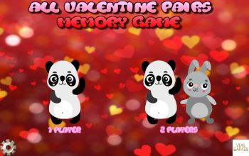 All Valentine pairs game start screen