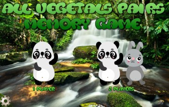 All vegetals pairs game start screen