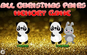 All Christmas pairs game start screen
